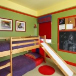 Small Bunk Bed Slide Colorful Bedroom