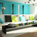 Small Living Room Looks More Sunny Due The Colorful Scheme Used