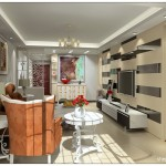 Small Living Room Wall Decoration Design Effect Drawing