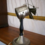 Small Nickel Plated Electric Desk Fan Rubell Antiques