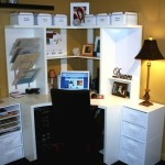 Small Office Design Ideas Corner Shape Workspace For