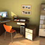 Small Office Design Ideas Minimalist Corner Workspace For