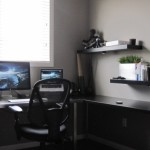 Small Office Space Ideas Ikea Corner Workspace For