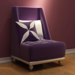 Sofa Chair Purple Fashion Furniture European