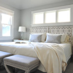Soft Grey And Blue Paint Color For Master Bedroom White Trim Also