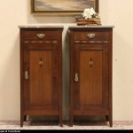 Sold Pair Marble Top Nightstands Bedside Tables Harp