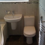 Solution For Small Bathroom Semi Pedestal Basin And Compact Toilet