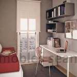 Space Saving Designs Your Small Rooms Red White Grey