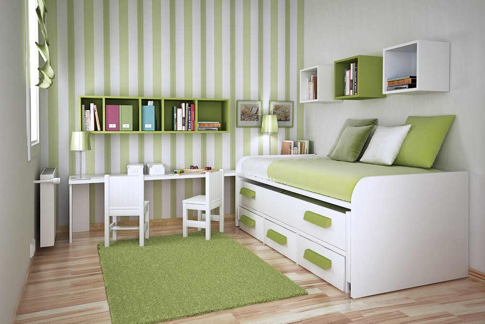 Space Saving Ideas For Small Rooms From Sergi Mengot Green
