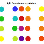 Split Complementary Color Combinations Are Created Choosing