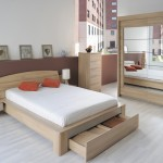 Split Smoked Acacia Bed Bedside Tables Wooden Beds From Fads