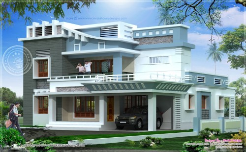 Square Feet Exterior Home Elevation Kerala Design And