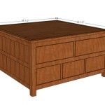 Square Solutions Coffee Table Plans Living Room Ideas
