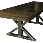 Steel Trestle Dining Table Nisah Studio Contemporary Tables