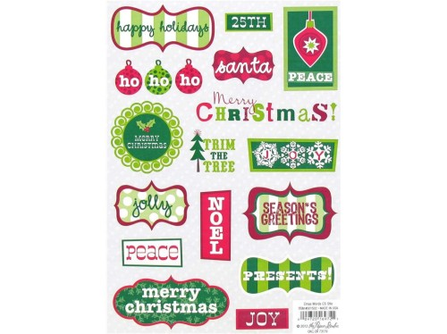 Stickers Embellishment Holiday Christmas
