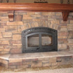 Stone Fireplace Maple Mantle Exciting Designs