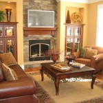 Stone Fireplace Old Style Decorating For Any New Home