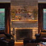 Stone Fireplace Room Honoring The Fish Was Top Priority