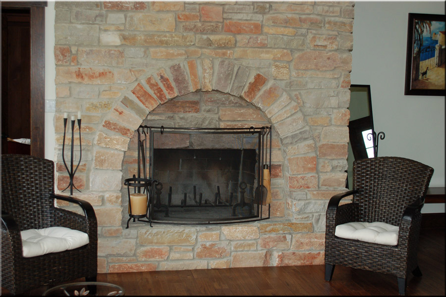 Stone Fireplaces Outdoor Choice Brown Webbing
