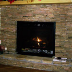 Stone Gas Log Fireplace Fascinating Stacked Designs