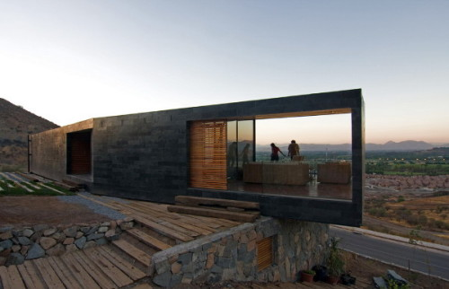 Stone House Design Chile Contemporary The Slope Modern