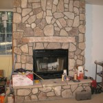 Stone Veneer Design Idea Rustic Fireplace Interior