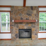 Stone Veneer Fireplace Installation And Hearth