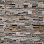 Stone Wall Laying From Various Granite Marble