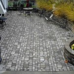 Stone Wall Patio Installation Hoehnen Landscaping