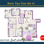 Studio Home Plans Illustrations For Architectural House Floor