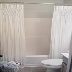 Stylish White Scenic Curtains For Bathroom