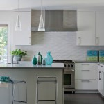 Subway Tile Backsplash Island Design Amazing Kitchen