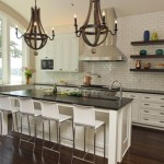 Subway Tile Floating Shelves Chandeliers Kitchens Classic Mee