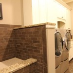 Subway Wall Tile And Floor Utility Mud Room