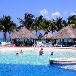 Swimming Pool Resort Mexico Paradise World Stock