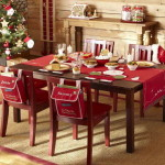 Table Decoration Ideas For Christmas Red Tablecloth