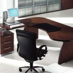 Tai Wood Contoured Office Desk Uffix Modern Desks