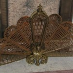 Take For Instance The Brass Peacock Fireplace Screen