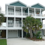 Teal Exterior Duplex Beach House Traditional Other