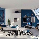 Teenagers Room Design Html Blue Boys Bedroom Striped Rugs Decor