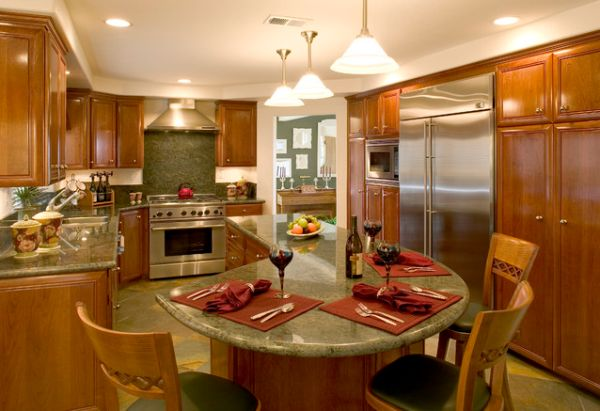 The Best Kitchen Island Designs Integrated Dining Table