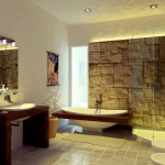 The Calming Spacious Design This Bathroom Features Natural Stone