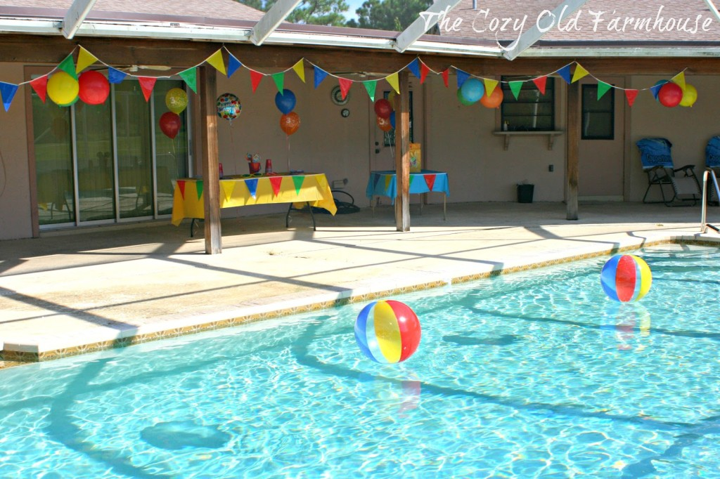 The Cozy Old Farmhouse Simple And Budget Friendly Pool Party