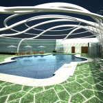 The First Ferry Interiors Club House Swimming Pool