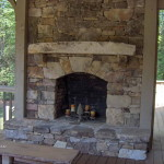 The How Build Stone Fireplace
