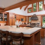 The Kitchen Has Central Island Bar Seating And Chef Stove