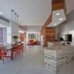 The Kitchen Inside Contemporary House Part Architecture