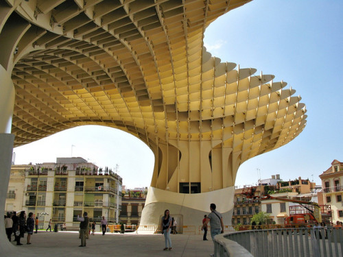 The Metropol Parasol Largest Wooden Structure World