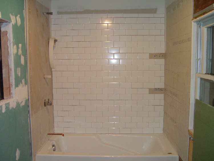 The Rest Subway Tile Applied Soap Dishes Will Installed