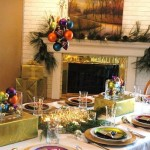 The Table Decorations For Christmas